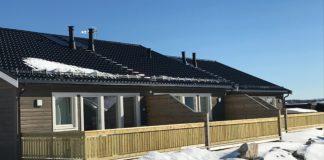 Nye leiligheter i Kvalvikbakkan i sol og snø